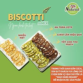 Bánh ăn kiêng dành cho người tiểu đường, bánh ăn kiêng Biscotti không đường 150g - B03