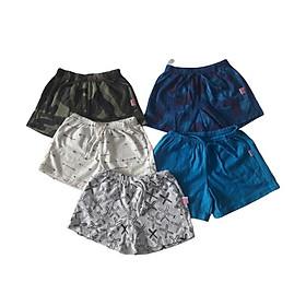 Quần đùi  trẻ em  chất coton xuất dư đủ size từ 5-30 kg - Set 5 cái MD76