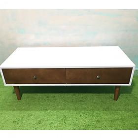 Bàn sofa hình hộp trắng có hộc kéo T619-2 KT120x50x43, bàn trà, bàn cafe, cà phê, coffee, bàn gỗ phòng khách