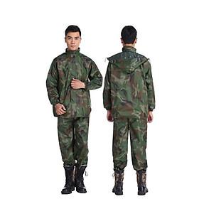bộ áo quần mưa lính vải dù 2 lớp 3 chức năng chống thấm nước cao cấp