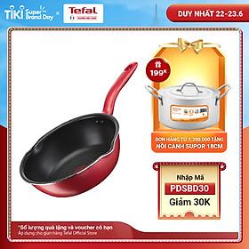 Chảo chiên chống dính đáy từ Tefal So Chef G1358495 24cm sâu lòng (Đỏ) - Công nghệ cảnh báo nhiệt thông minh - Hàng chính hãng