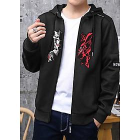 Combo Naruto áo khoác hoodie và bao tay