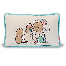 Gối Bông Thêu Cừu Jolly Candy 37811 (43 x 25 cm)