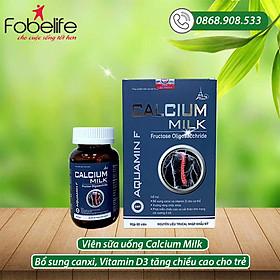 Viên uống phát triển chiều cao cho trẻ nhỏ CALCIUM MILK- hộp/ 60 viên