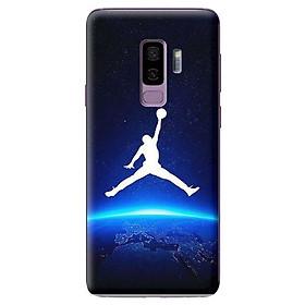 Ốp Lưng Điện Thoại Dành Cho Samsung Galaxy S9 Plus - Jordan Nền Xanh Đen