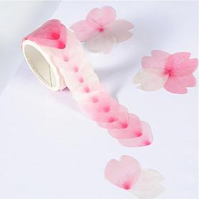 80Pieces Flower Petal Washi Tape Masking Tape Decorative Scrapbook 22x23mm