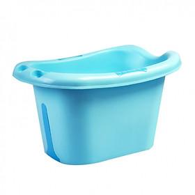Chậu tắm trẻ em thành cao (màu xanh) tặng kèm Hộp đồ chơi tắm sinh vật biển 5 con hiệu Winfun cao cấp