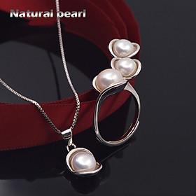 Bộ Trang Sức Ngọc Trai Nữ Hoàng BNT-611 Bảo Ngọc Jewelry  (Freesize)
