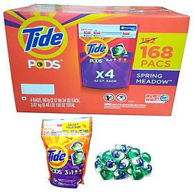 Nước giặt Tide Pods 3 in 1 Spring Meadow thùng 168 Viên - USA