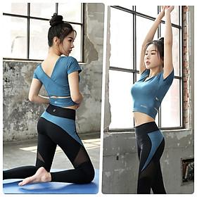 Bộ Quần Áo Thể Thao Nữ Tập Yoga Gym Aerobic Đẹp Cao Cấp - HK23-24