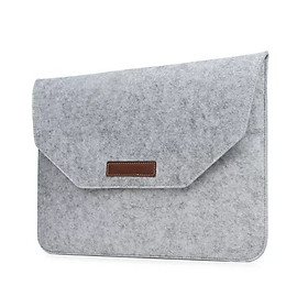 For Macbook/iPad Pro 15.4 inch Air 13.3/11.6 inch Simple Solid Color Laptop Notebook Storage Bag Pouch Protection Case