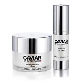 Bộ dược mỹ phẩm chống lão hóa Caviar of Switzerland cho da mặt và vùng mắt