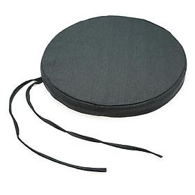 Hình đại diện sản phẩm Nệm Ngồi Soft Decor 505 Mickey Canvas Round Seat Pad (50 x 50 x 5 cm) - Xám Đen