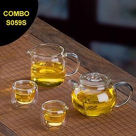 Bộ bình trà thủy tinh Samadoyo S059S 250mL