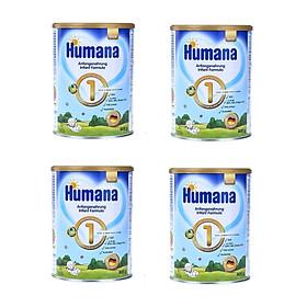 Bộ 4 Lon Sữa Humana Gold 1 (800g) dành cho bé từ 0-6 tháng