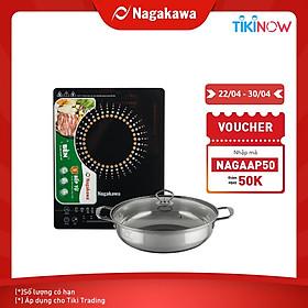 Bếp điện từ Nagakawa NAG0703 (2200W) - Tặng kèm nồi lẩu - Hàng chính hãng (Hoa Văn Ngẫu Nhiên)
