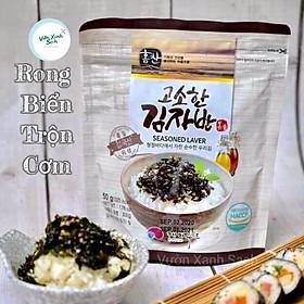 Rong biển vụn ăn liền /Trộn cơm Hàn Quốc/Khối lượng 50G/Xé ra ăn liền hoặc ăn với cơm/Vị oliu/Thơm ngon/Bổ dưỡng