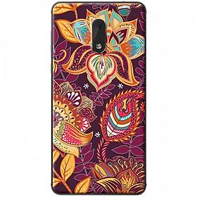 Hình đại diện sản phẩm Ốp lưng dành cho Nokia 6 mẫu Hoa văn hoa sen lá tím