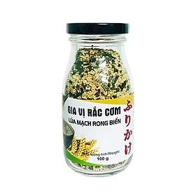 Gia vị rắc cơm lúa mạch rong biển chai thủy tinh 100 g