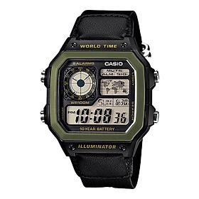 Đồng hồ nam dây vải Casio Standard chính hãng AE-1200WHB-1BVDF