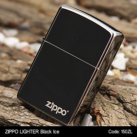 Bật lửa Zippo Chrome Đen Bóng (trơn bóng đen) - Zippo Fullbox