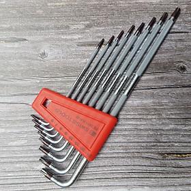 Bộ Lục Giác Knurled Hoa Thị 8 Chi Tiết T6-T25- PB Swiss Tools PB 3411.H 6-25 CN