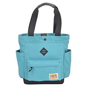 Túi Đeo Vai Tote Bags - Cotton Cyan Stronger Bags S21_2 (37 x 35 cm) - Xanh Dương