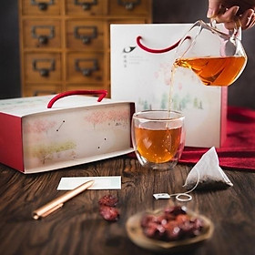 Trà táo đỏ đường nâu Teascovery (2 khoản)