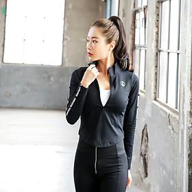 Áo Khoác Thể Thao Yoga Gym Nữ Cao Cấp, Form Chuẩn Tôn Dáng - AK02
