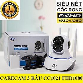 CAMERA CARECAM 3 RÂU FHD1080 - 2.0Mps - Đàm thoại hai chiều rõ ràng hỗ trợ thẻ nhớ lên tới 128Gb
