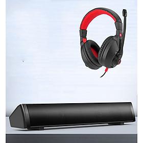 Combo Loa Vi Tính Thông Minh V-189, Hộ Trợ Bluetooth, Kiểu Dáng Sang Trọng Cao Cấp + Tặng Tai Nghe Chụp Tai Chuyên Game Cao Cấp