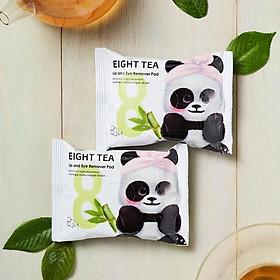 Khăn Ướt Tẩy Trang Mắt Môi BOM Chiết Xuất 8 Loại Trà Eight Tea Lips & Eyes Makeup Remover Pad 30 Miếng