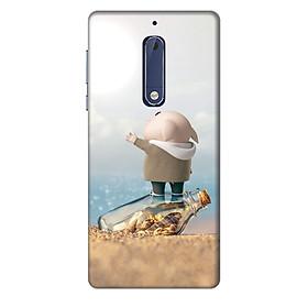 Hình đại diện sản phẩm Ốp lưng nhựa cứng nhám dành cho Nokia 5 in hình Heo con cầu cứu