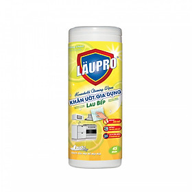 Khăn ướt Kháng khuẩn CHỨA CỒN - Gia dụng Läupro – Lau Bếp - Hộp 45 Khăn (Laupro) - Được Kiểm nghiệm & Chứng nhận!