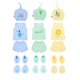 Combo 3 set đồ 15 món sơ sinh Mintuu cho bé 0 - 3 tháng
