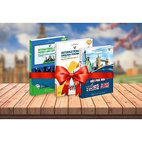 Combo Bộ sách Cẩm nang  học tiếng Anh, Ngữ âm tiếng Anh quốc tế cấp độ trung cấp, Ngữ âm học và cách diễn đạt tiếng Anh quốc tế nâng cao (kèm đĩa CD)