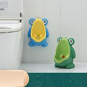 Bồn tiểu dành cho bé trai- Bô đứng đi tiểu hình ếch kèm móc dán tường, giao màu ngẫu nhiên