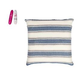 Gối Massage Theo Phương Pháp Massage Shiatsu Nhật Bản - Tặng kèm máy massage cầm tay mini - Hàng nhập khẩu