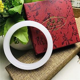 Combo Vòng đeo Tay Nữ, đá cẩm Thạch Tự Nhiên, kèm hộp Gấm lót Lụa đựng vòng, Thích hợp đeo hàng ngày, làm quà tặng.