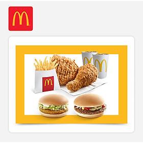 McDonald's - Combo 129k – Chicken Burger+ Hamburger (E-code - Combo 129k (1Ham + 1 Chicken))