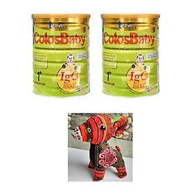 Combo 2 hộp Sữa Bột VitaDairy ColosBaby Gold 1+ (800g)  tặng chú dê nhồi bông dễ thương