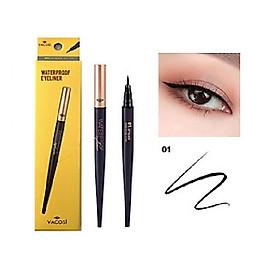 Bút Kẻ Mắt Nước Vacosi Natural Studio Waterproof Eyeliner #01 jet black