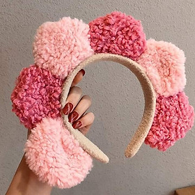 Băng đô rửa mặt hoa ngũ sắc ( tặng 1 dây cột hoa kaikaikiki)