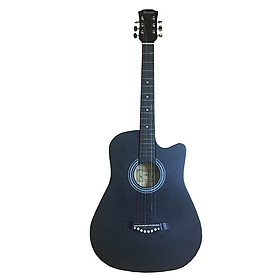 Đàn Guitar classic GU05 màu đen nhám dáng khuyết
