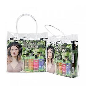 Combo 8 Chai Dầu gội thảo dược Organic giúp tóc suôn mềm bóng mượt Jie Fen Delux Gift Set, Taiwan