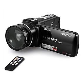 """Máy Quay Video Kỹ Thuật Số Andoer HDV-Z82 Với Màn Hình Cảm Ứng LCD Micrô Ngoài (1080P 24MP Zoom10X 3"""" 0,39X)"""