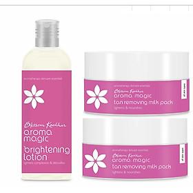 Combo dưỡng trắng Anti Tan Aroma Magic (Mặt nạ dưỡng trắng Anti Tan Removing Milk Pack 70gm + Lotion dưỡng trắng Brightening Lotion 100ml)