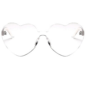 Womens Rimless Clear Candy Color Glasses Transparent Mirror Fashion Sunglasses