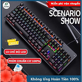 Bàn Phím Cơ Máy Tính Chơi Game XSmart H650 Có 10 Chế Độ Led RGB Khác Nhau Chiến Mọi Tựa Game Trên PC Như Pubg, LOL - Hàng Chính Hãng
