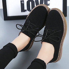 Women's Retro Casual Shoes Suede Oxford bottom Bullock
